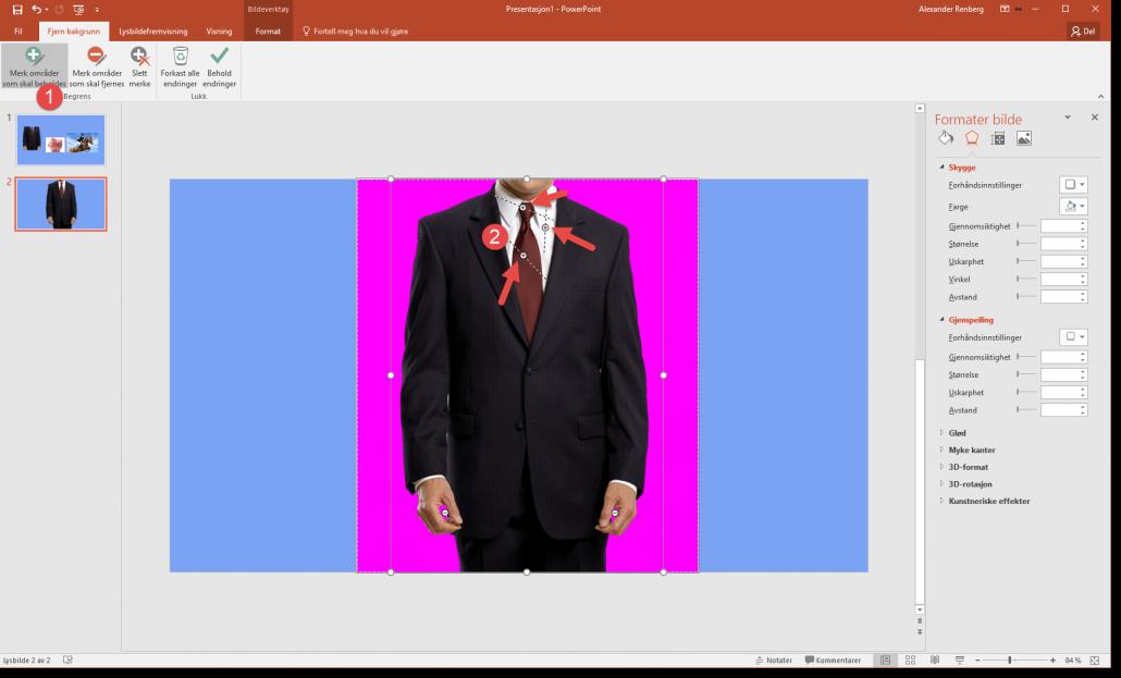 Fjerne bakgrunn på bilder i Powerpoint 4