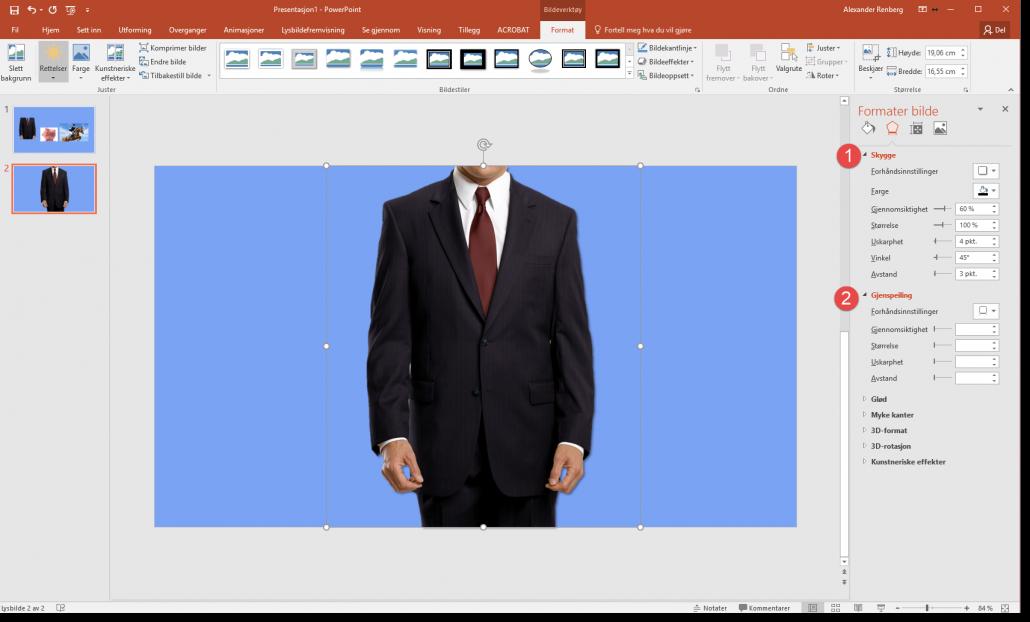 Fjerne bakgrunn på bilder i Powerpoint 5