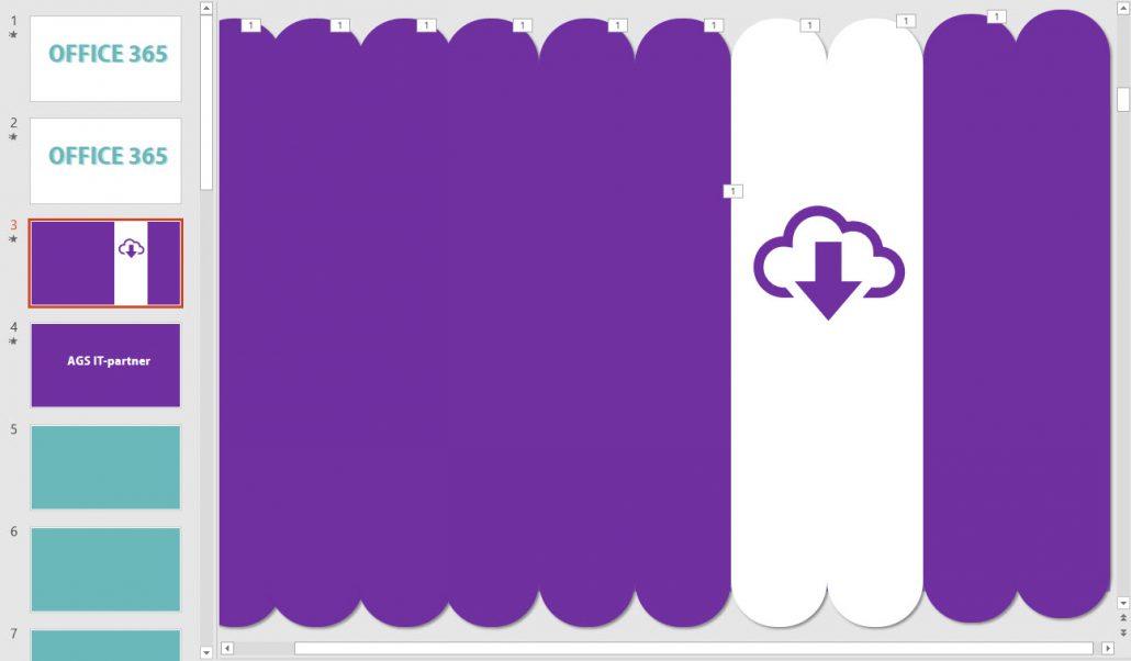 Hordan lage en stilig overgang i Powerpoint med rektangler 4