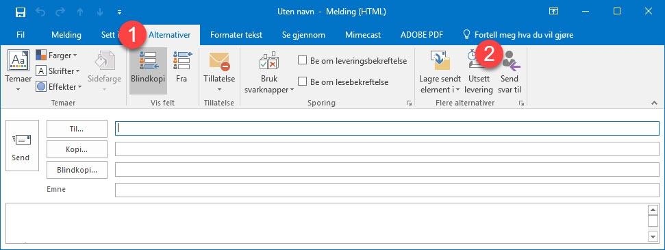 Hvordan endre Svar til adresse for en e-post i Outlook