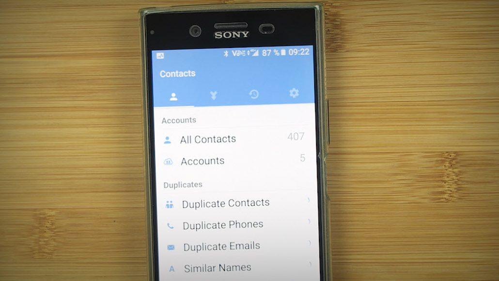 vordan fjerne doble kontakter på Android 1