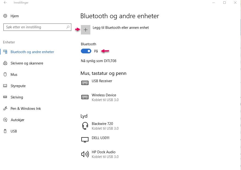 Hvordan låse PC'en med mobilen og Bluetooth - WIndows 10 Dynamisk Lås 1