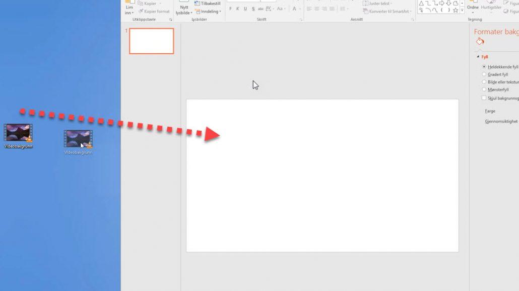 Hvordan lage en videobakgrunn i Powerpoint 1