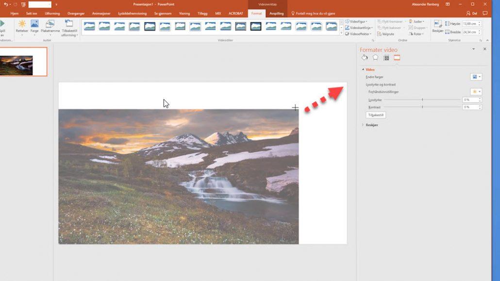 Hvordan lage en videobakgrunn i Powerpoint 2