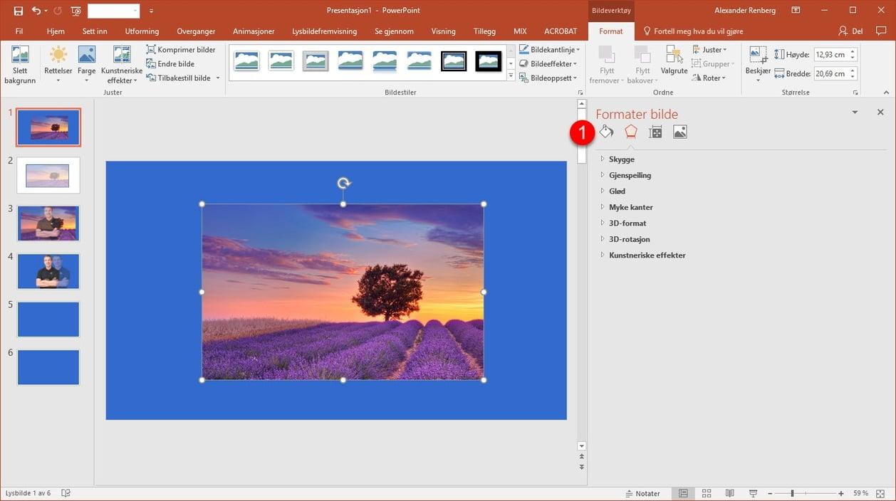 transparent gjennomsiktig bilde i Powerpoint