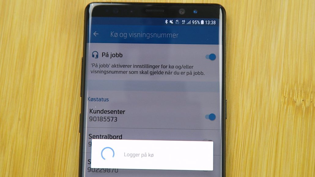 Hvordan logge inn og ut av køer i Telenor Mobilt Bedriftsnett