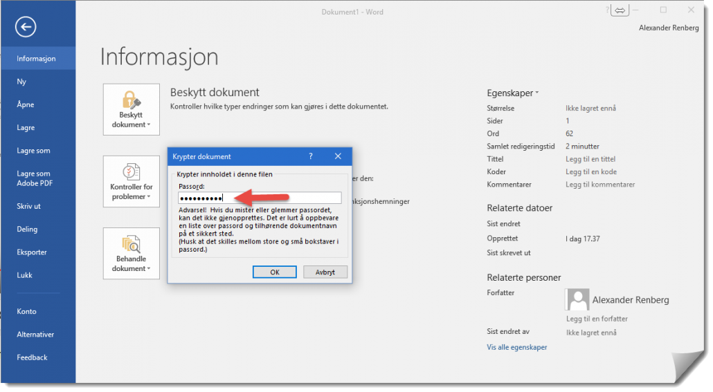 Hvordan passord beskytte et Word dokument