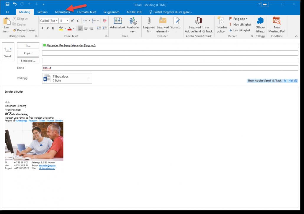 Hvordan sende en planlagt epost i Outlook
