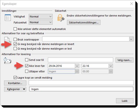 Hvordan sende en planlagt epost i Outlook 3
