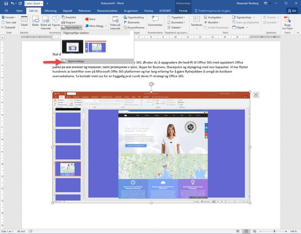 hvordan-sette-inn-skjermklipp-i-word-3