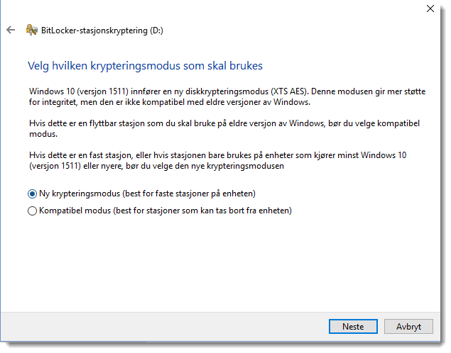 Kryptere minnepenn eller USB disk i Windows