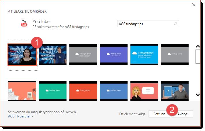 Sett inn Youtube Video i Powerpoint tips 3