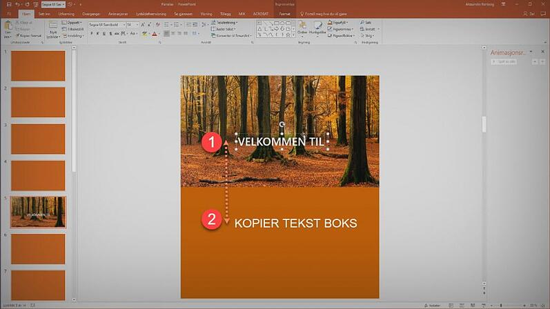 Slik lager du Parallax effekt i PowerPoint 2