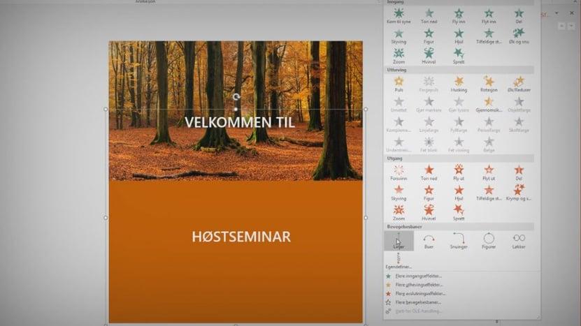 Slik lager du Parallax effekt i PowerPoint