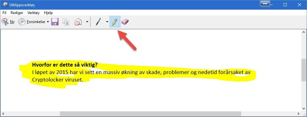 Windows utklippsverktøy 6