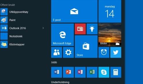 Finn dine favoritter i Windows 10