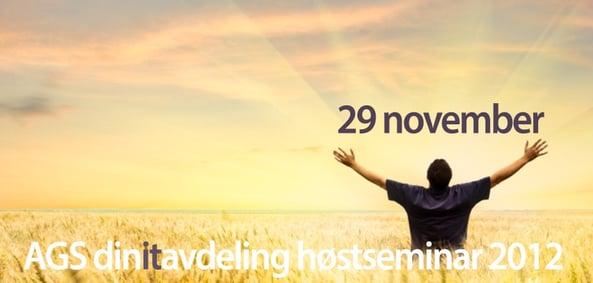 Klikk her for å melde deg på Høstseminar 2012