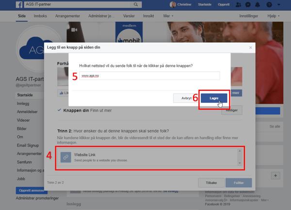 endre sideknapp på facebook 4