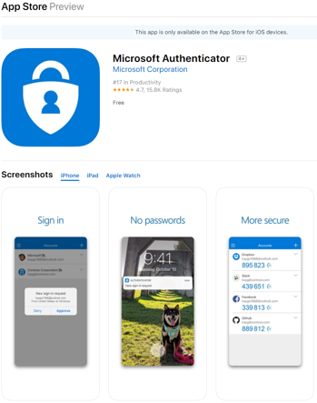 https://apps.apple.com/us/app/microsoft-authenticator/id983156458