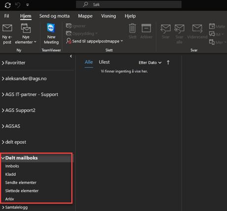 Hvordan legge til e-postboks i Outlook