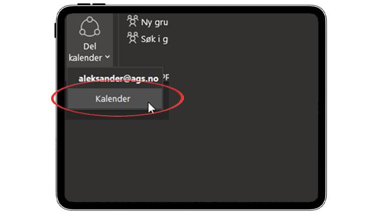 Hvordan dele kalender i Outlook? 1