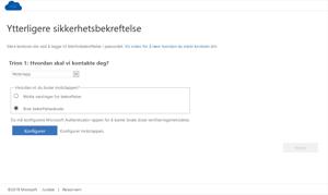 Ytterligere sikkerhetsbekreftelse med kode til Microsoft Authenticator