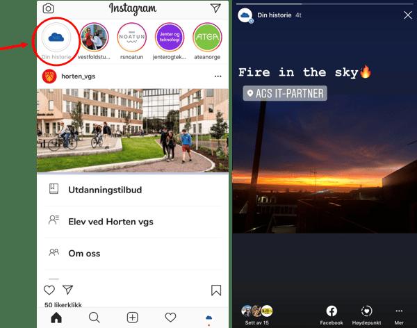 Historier på Instagram