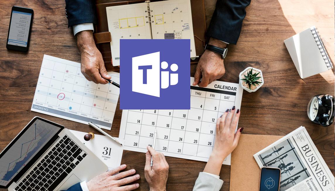 Hvordan booke møter i Microsoft Teams