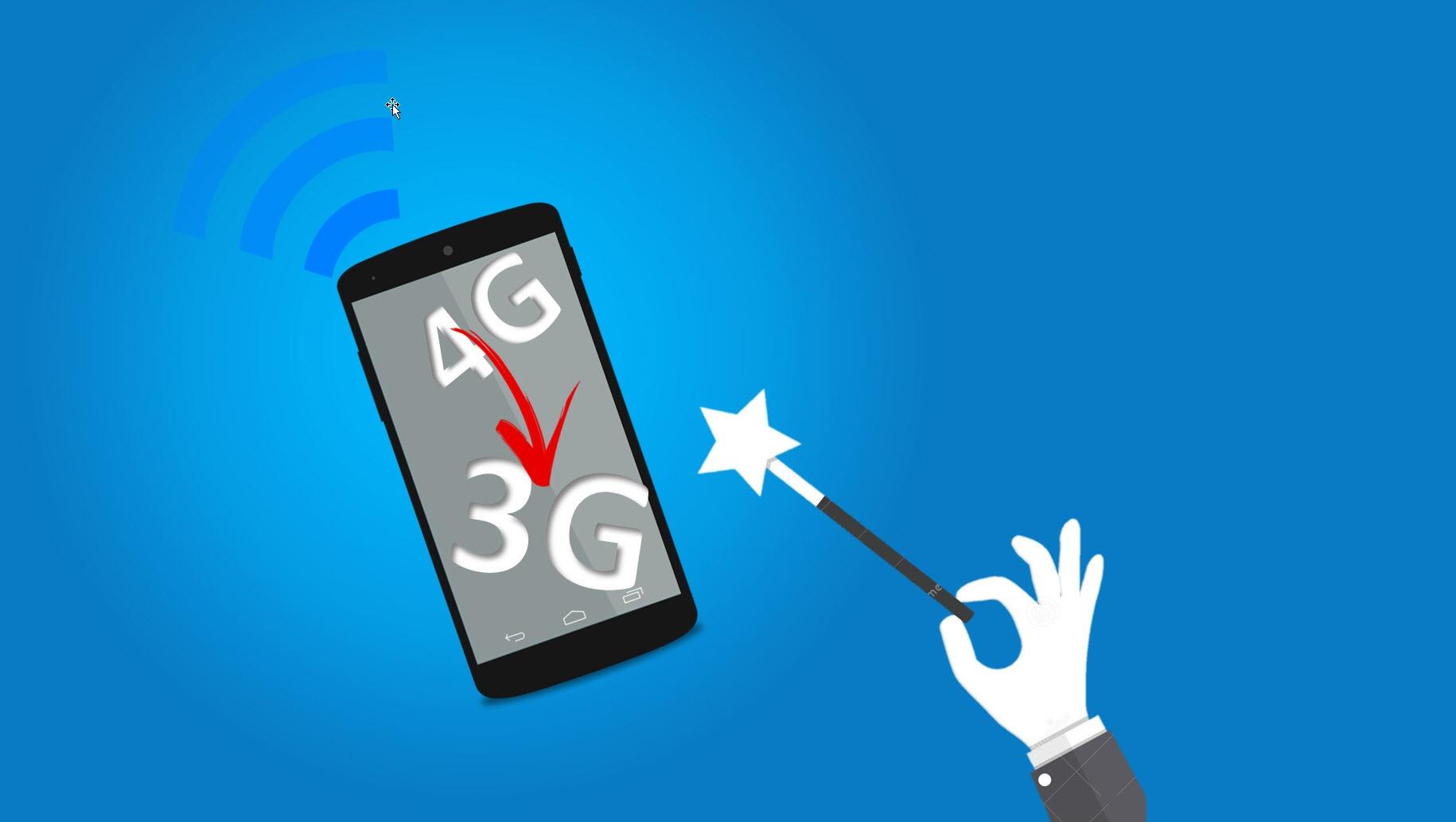 Hvordan få bedre signal på mobilen ved å skru ned fra 4G til 3G
