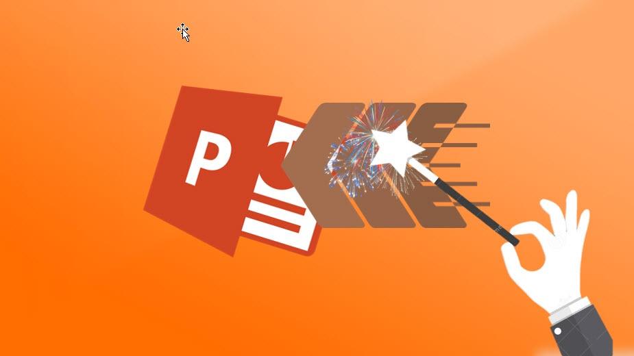 Hvordan bruke fly inn effekten i Powerpoint