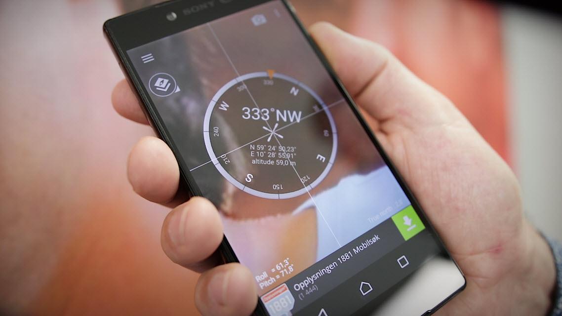 Se hvordan du kan bruke telefonen som kompass og vater!