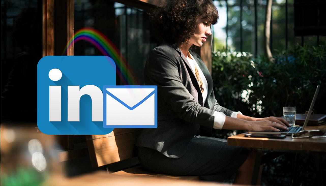Slik setter du opp firma epost adressen på Linkedin profilen din