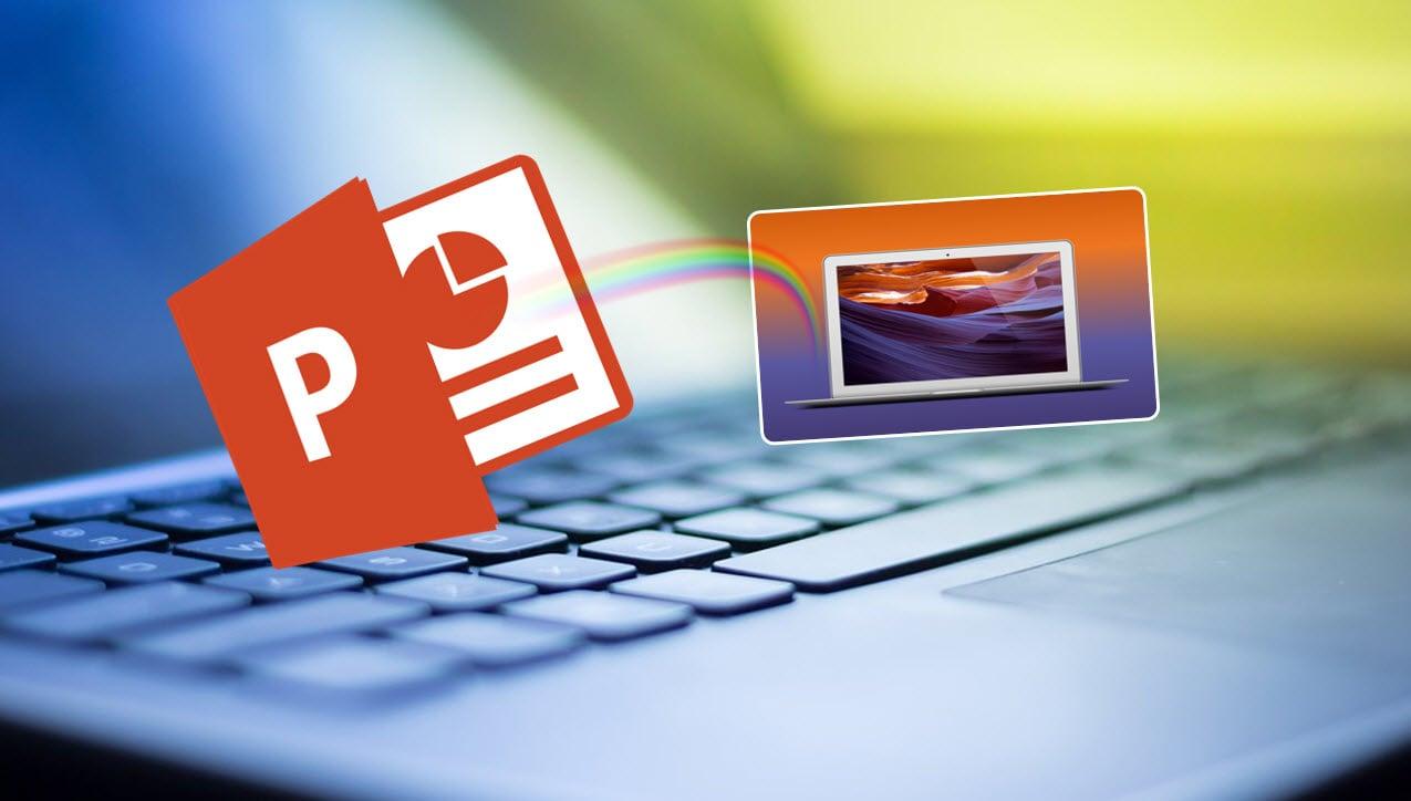 Hvordan lage en adaptiv bakgrunn i Powerpoint
