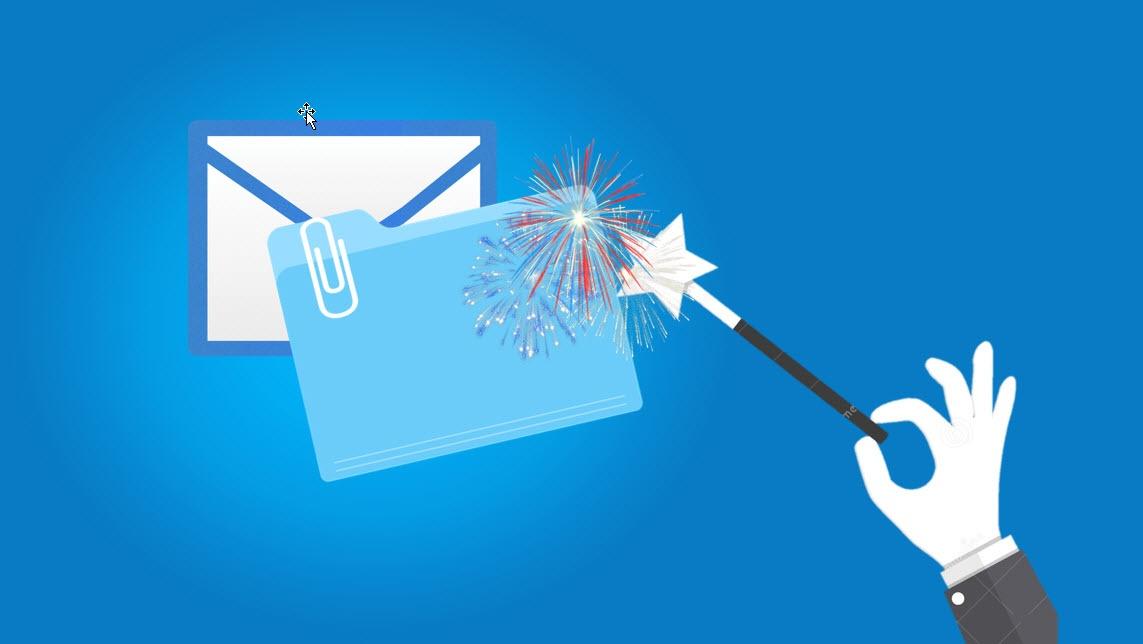 Hvordan sende en e-post som vedlegg i en annen e-post.
