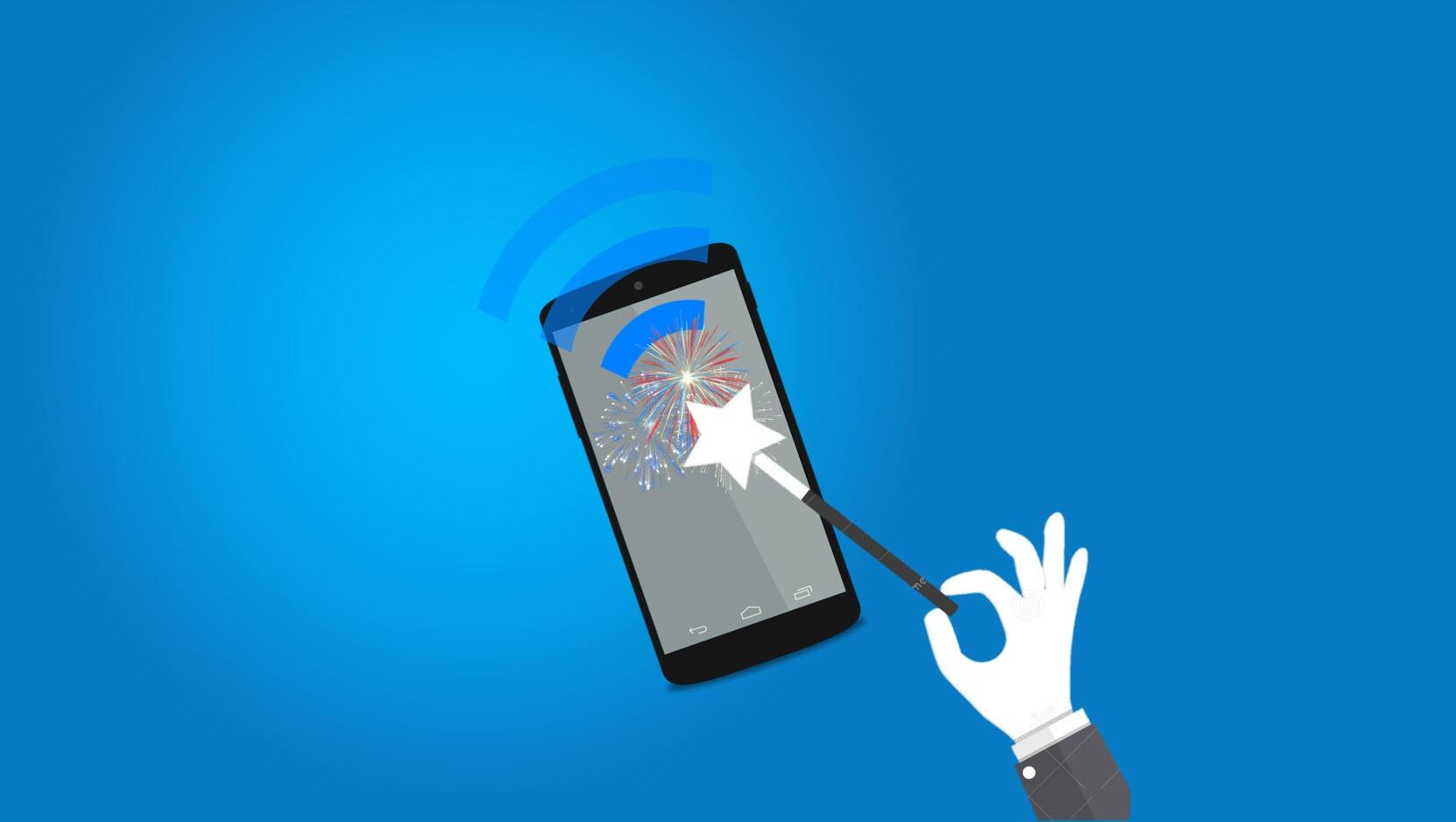 Hvordan slå på Wifi tale på Android eller iPhone
