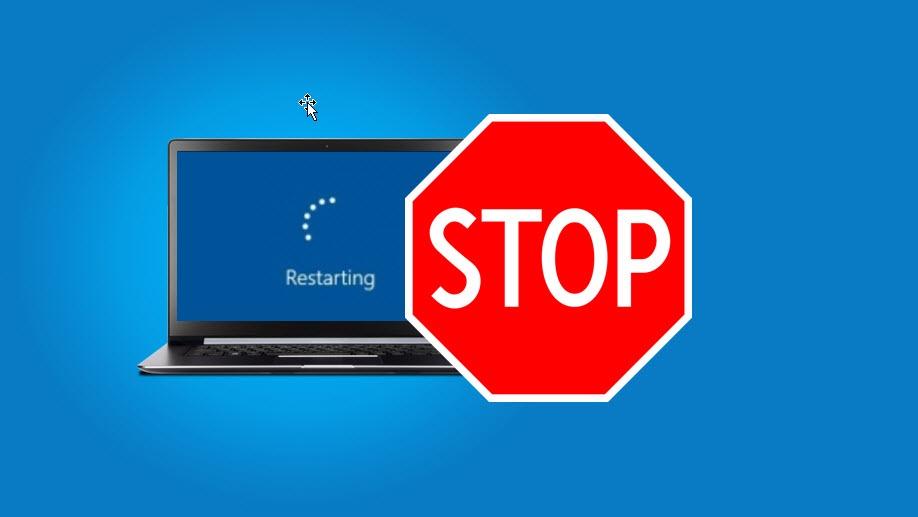Hvordan stoppe automatisk omstart av Windows