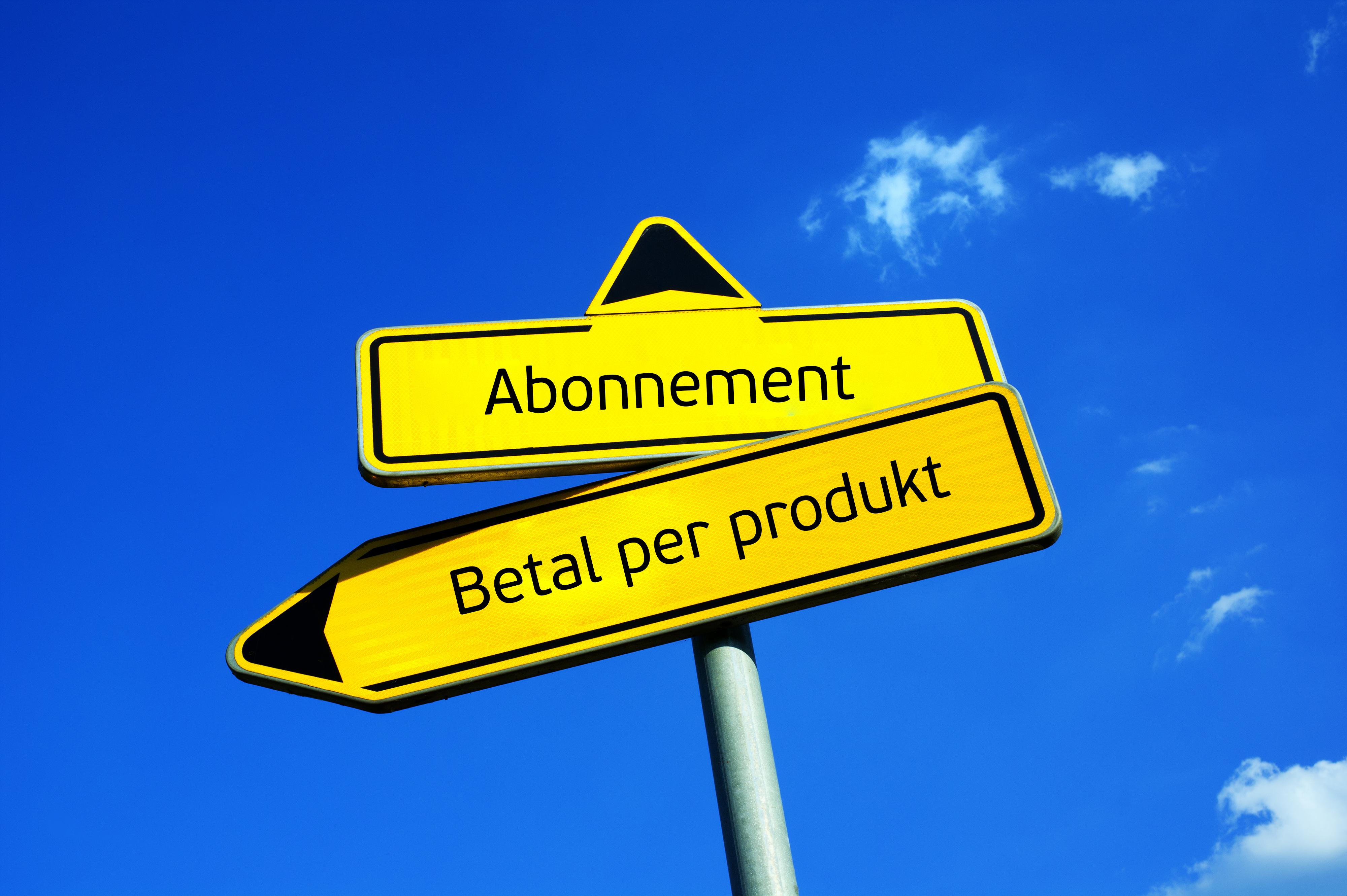 Abonnement som forretningsmodell