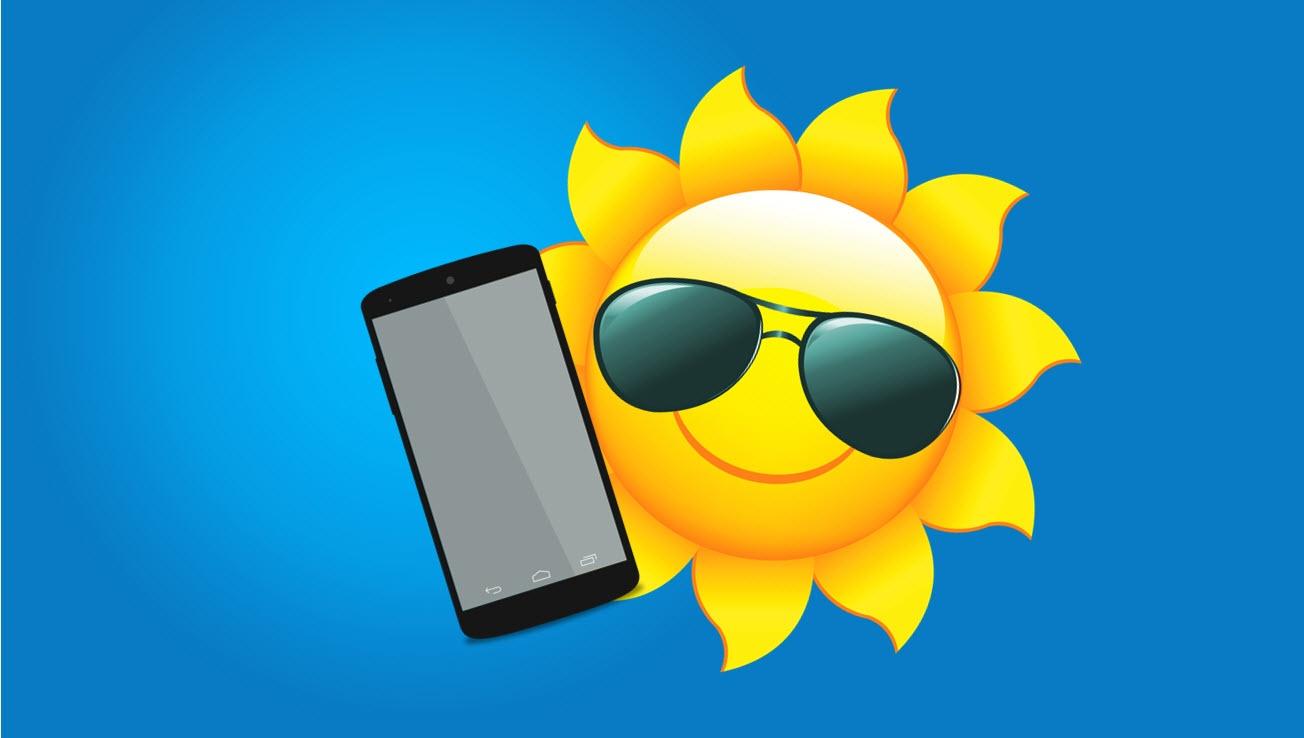 Pass på mobilen i sommer sola og unngå overoppheting!