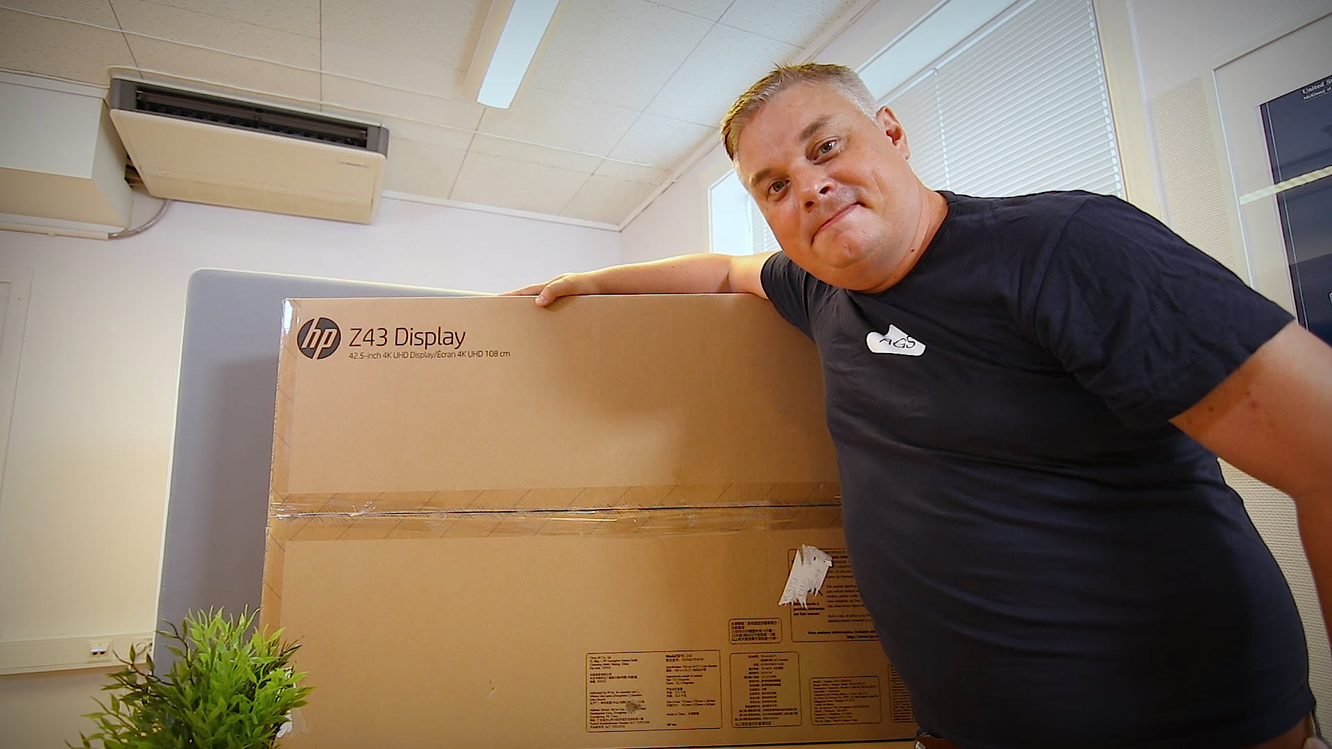 Unboxing og test av HP Z43 - 42,5 tommers 4k Ultra HD skjerm
