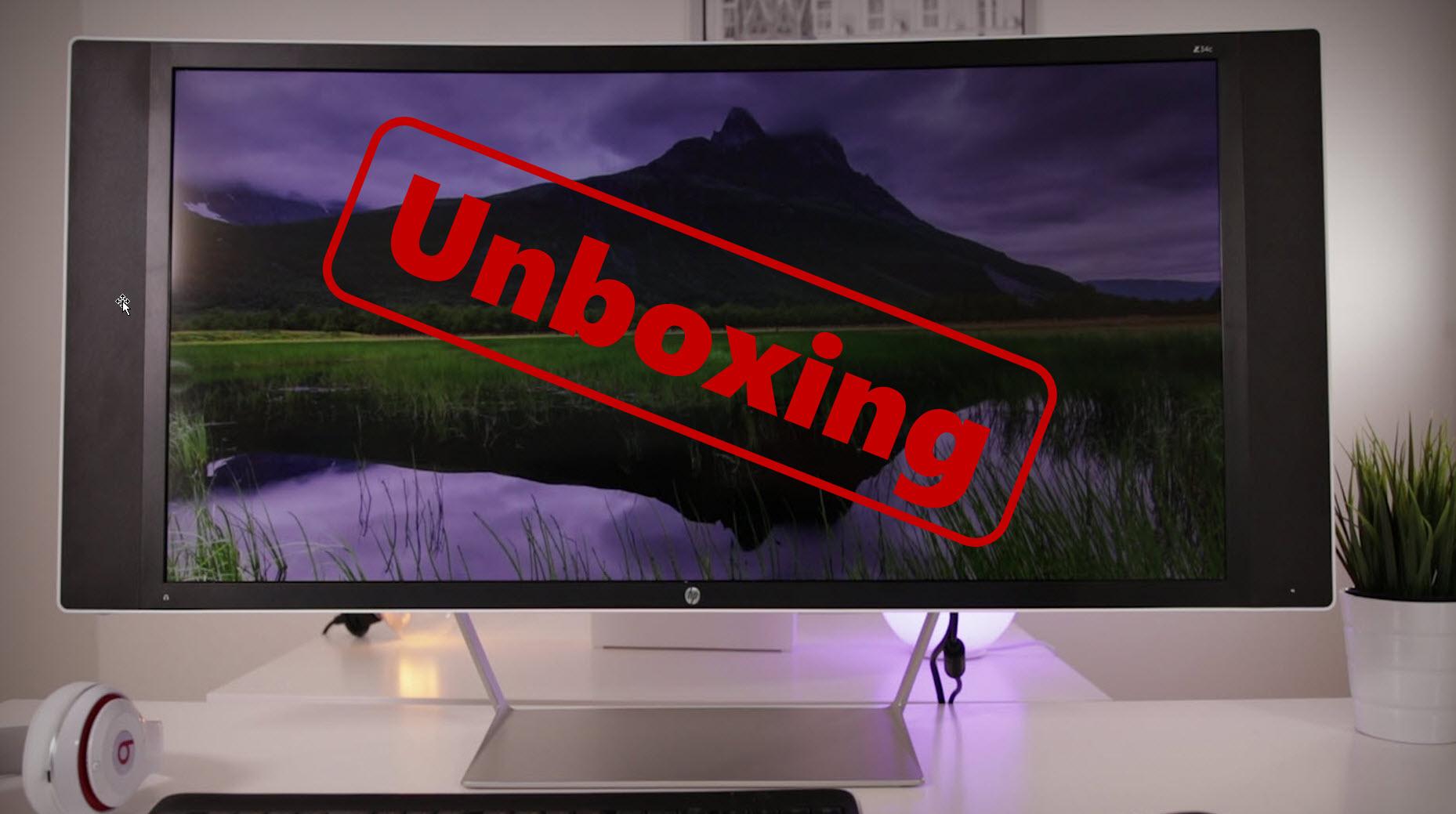 Unboxing HP Z34c 34