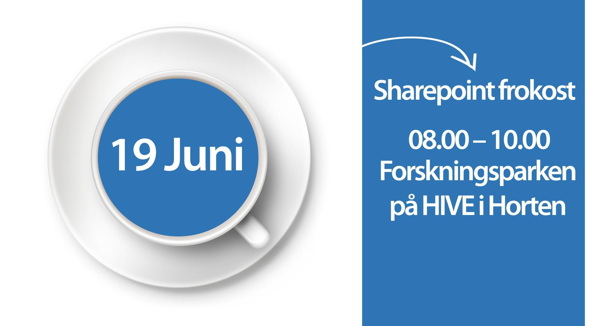 GRATIS Sharepoint frokost 19.juni