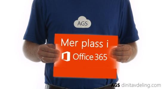 Mer lagringsplass i Office 365