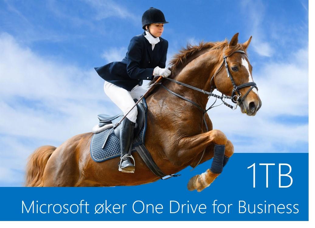 Større lagringskapasitet på Microsoft One Drive For Business