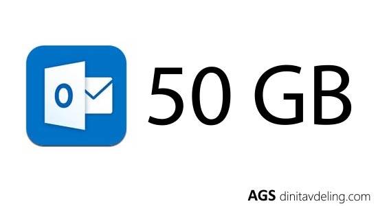 Microsoft dobler lagringen til 50 GB