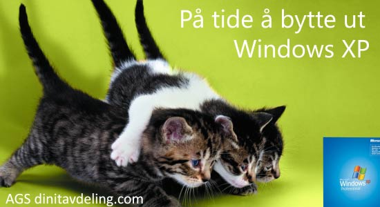 På tide å bytte ut Windows XP