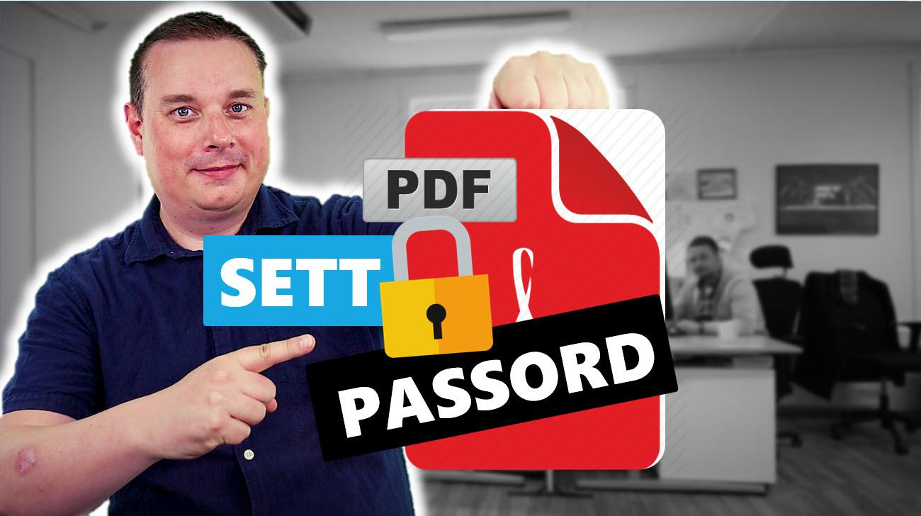 Hvordan passordbeskytte PDF filer