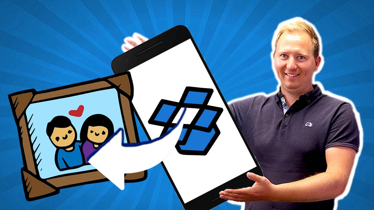Hvordan lagre bilder i Dropbox for Bedrifter med mobilen
