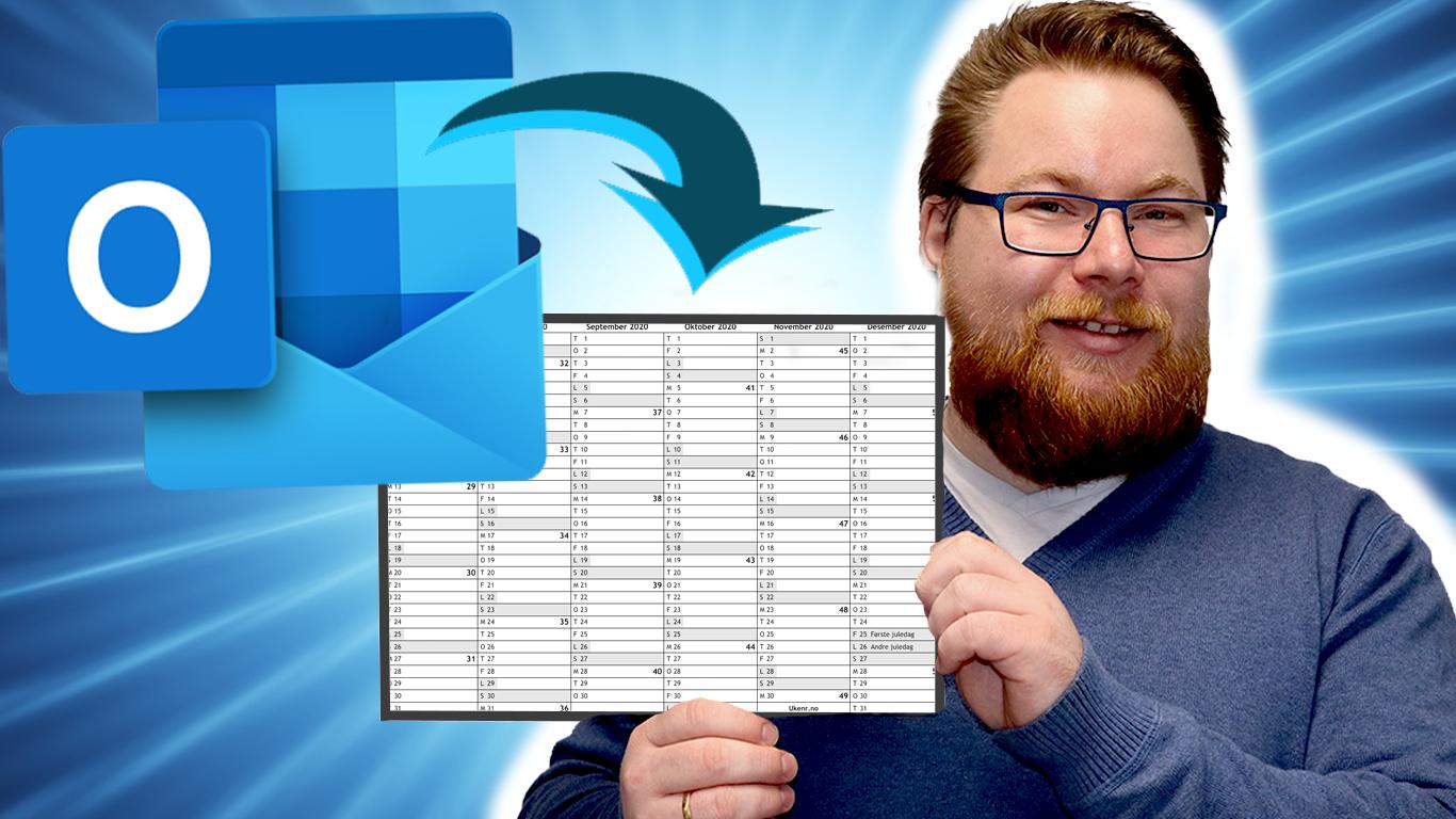 Hvordan dele kalender i Outlook?